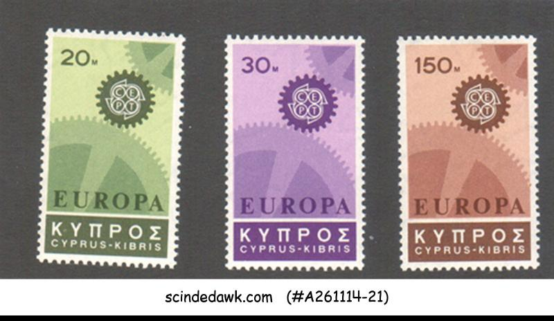 CYPRUS - 1967 EUROPA - 3V - MINT NH