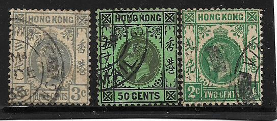 HONG KONG 1903 -1921 11 STAMPS VERY FINE USED