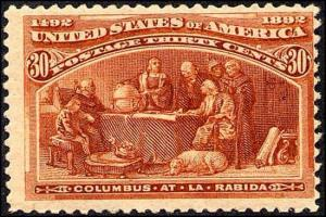 1893 US Stamp #239 A80 30c Mint Original Gum Columbian Expo Catalog Value $225