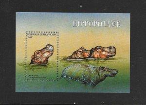 WILDLIFE - CENTRAL AFRICAN REPUBLIC #1395  HIPPOPOTAMUS  MNH