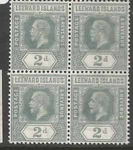Leeward Islands SG 49 Block of 4 MNH (7cqu)