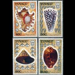 TUVALU 1991 - Scott# 562-5 Sea Shells Set of 4 NH
