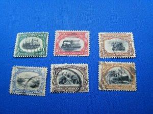 UNITED STATES,  1901   SCOTT #294-299   -   Used