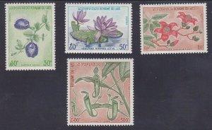Laos 246-48 & C116 MNH OG