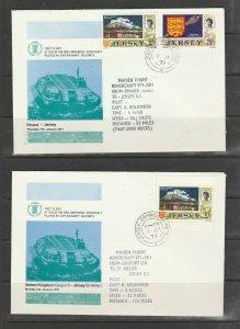 Jersey, 1971 3 Semi Amphibious Hovercraft 1st Flights, Dinard/Jersey, Uk/Jersey