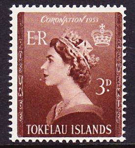 Tokelau 1953 Coronation of QEII MNH