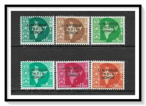 India #M56-M61 Military Stamps - UN Forces In Congo Set MNH