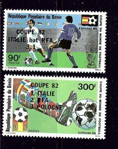 Benin 523-24 MNH 1982 Soccer (overprints)