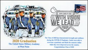 20-092, 2020, West Point Graduation, Pictorial Postmark, Event Cover