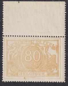 Sc# Q13 Belgium Parcel Post and Railway Stamp 80¢ MNH CV $75.00 mh MNH?