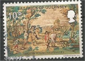 GUERNSEY, 1975, used 10p,  Aubusson tapestry, Hauteville., Scott 125