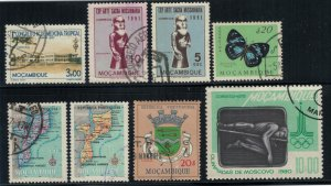 Mozambique 8 stamp collection