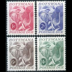 BOTSWANA 1971 - Scott# J4-7 Elephants Set of 4 NH