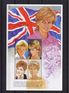 Dominica 1997 Sc#2010/2011 DIANA PRINCESS OF WALES Sheetlet + S/S MNH