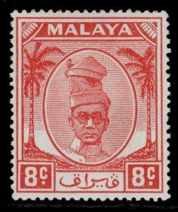 MALAYSIA - Perak GVI SG134, 8c scarlet, M MINT.