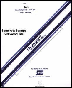 Showgard Black Stamp Mount 143 X 264 mm  (5 count)