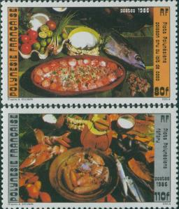 French Polynesia 1986 SG482-483 Polynesian Food Dishes set MNH