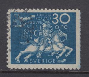 Sweden Sc 218 used 1924 30ö UPU Postrider F-VF