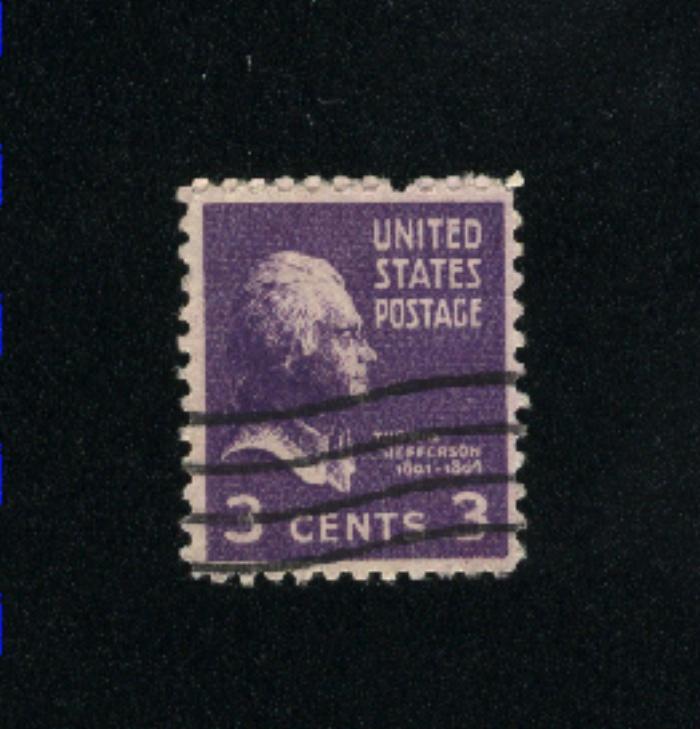 USA #807  3 used 1938 -1954 PD .08