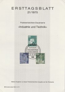 1975 Germany - FD Card (ETB) Sc 1178,1181,1185