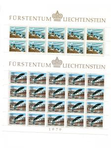 Liechtenstein  1979   mini sheets . Mint   VF NH