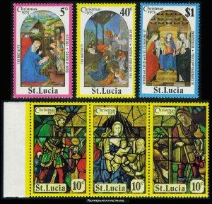 Saint Lucia Scott 373-378 Mint never hinged.
