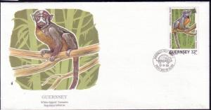 Guernsey FDC SC# 418 White Lipped Tamarin L44