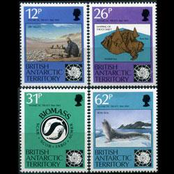 BR.ANTARCTIC TERR. 1991 - Scott# 180-3 Treaty Set of 4 NH