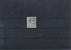 Barvaria 1867 Imerf 6K Blue Used Stamp CAT£31 Ref: R7497