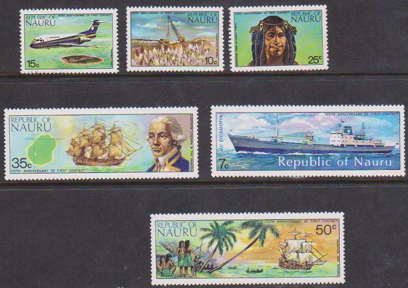 Nauru Scott #108-113 Mint VF-NH 1974 Outside World Issue Complete