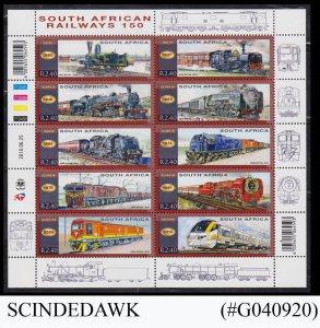 SOUTH AFRICA - 2010 RAILWAY TRAINS MIN/SHT MNH