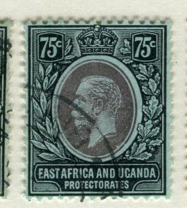 BRITISH EAST AFRICA; 1912 early GV issue fine used Shade of 75c.