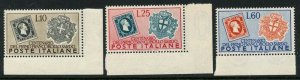 Italy 1951 Postage Stamp Centennial set Sc# 587-89 NH