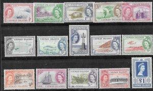Cayman Is. # 135-49 QE II Definitives    (15)    VF Unused VLH