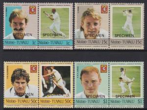 Tuvalu Niutao 1985 Cricket Specimen MNH
