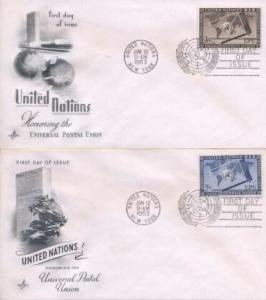 UN #17/18 3c & 5c UPU - Artcraft