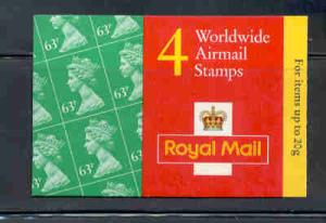 Great Britain Sc BK815 1997 63p x 4 Machin stamp booklet  mint NH