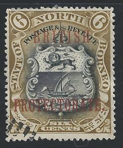 North Borneo #110 6c Coat of Arms - used