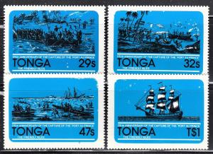 Tonga Scott 497-98, 500-01  F to VF mint.