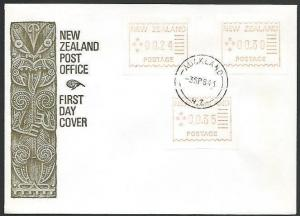 NEW ZEALAND 1984 FRAMA TRIAL set on commem FDC, cat NZ$165.................52732