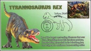 19-345, 2019, T-Rex, Pictorial Postmark, Event, Leesburg VA, Tyrannosaurus Rex