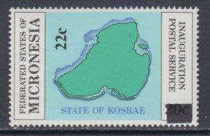 Micronesia 51 Map MNH VF