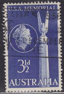 Australia 280 USED 1955 Top of US Monument 3½p