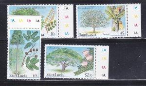 St Lucia 649-652 Set MNH Trees