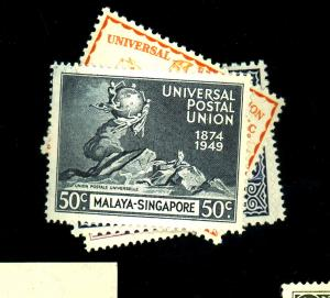 Singapore #23-26 MINT F-VF OG NH
