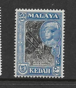 KEDAH , 90, MNH, ABORIGINES WITH BLOWPIPES