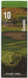 Canada USC #BK176a 43c Golf Pane of Ten in Sealed Booklet VF-NH