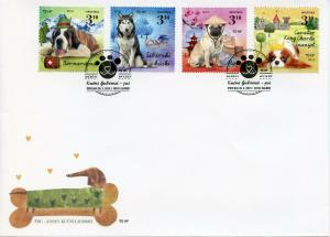 Croatia 2019 FDC Dogs II Huskies Pugs St Bernard 4v Cover Pets Animals Stamps