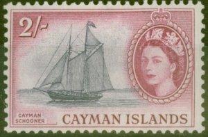 Cayman Islands 1955 2s Slate-Violet & Reddish Purple SG159 Fine Lightly Mtd Mint