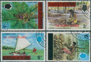 Gilbert Islands 1976 SG11-14 Food Gathering FU